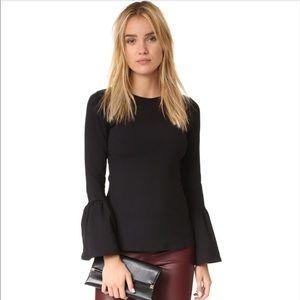 Susana Monaco Nicole Bell Sleeve Knit Top Black